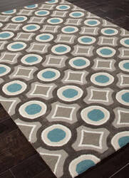 Addison And Banks Hand Tufted Abr0149 Deep Charcoal/Aegean Blue Area Rug