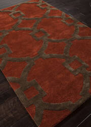 Addison And Banks Hand Tufted Abr0262 Red Oxide Area Rug