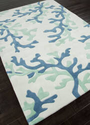 Addison And Banks Hand Tufted Abr0360 White/Sea Green Area Rug