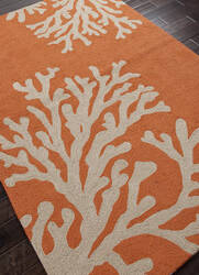 Addison And Banks Hand Hooked Abr0373 Orange / Gray Area Rug