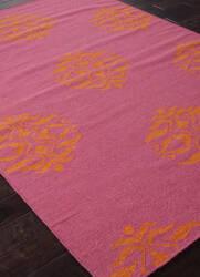 Addison And Banks Flat Weave Abr0464 Pink - Orange Area Rug
