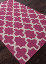 Addison And Banks Flat Weave Abr0505 Medium Magenta Area Rug