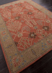 Addison And Banks Hand Tufted Abr1378 Orange Rust Area Rug
