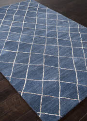 Addison And Banks Hand Tufted Abr1406 Dark Denim Area Rug