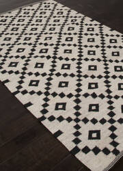 Addison And Banks Flat Weave Abr1434 Antique White Area Rug