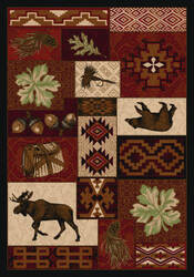 American Dakota National Park Bear Creek Lodge Red Area Rug