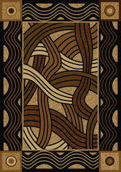American Dakota New Echota Hand Coiled Natural Area Rug