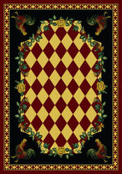 American Dakota Novelty High Country Rooster Red Area Rug