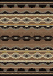 American Dakota Voices Medicine Brown Area Rug