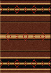 American Dakota Camp Old Timer Brown Area Rug