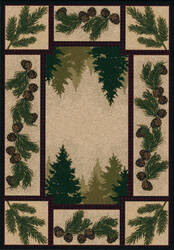 American Dakota National Park Pine Forest Brown Area Rug