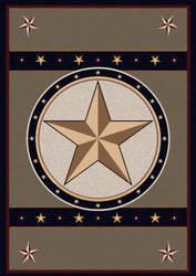 American Dakota Great Stateof Mind Sage Star Green Area Rug