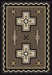 American Dakota Cabin Saint Cross Brown Area Rug