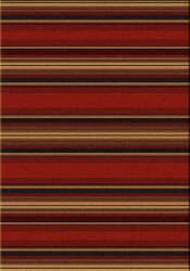 American Dakota Camp Santa Fe Stripe Red Area Rug