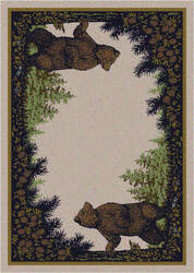 American Dakota National Park Twin Bears Green Area Rug