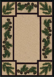 American Dakota National Park Valley Forest Brown Area Rug