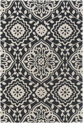 Surya Annette Ruby Black - Ivory Area Rug