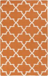 Surya Pollack Keely Orange/White Area Rug