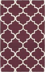 Surya York Mallory Purple/White Area Rug