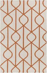 Surya York Ellie Ivory - Orange Area Rug