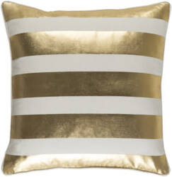 Surya Glyph Pillow Stripe Metallic Gold - White