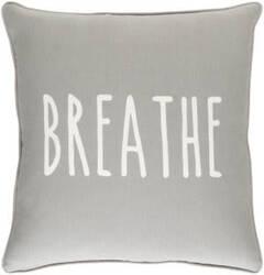 Surya Glyph Pillow Breathe Gray - White