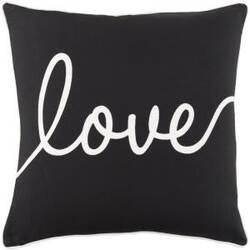 Surya Glyph Pillow Romantic Love Black - White