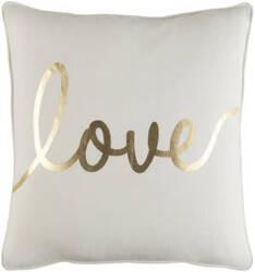 Surya Glyph Pillow Romantic Love White - Metallic Gold