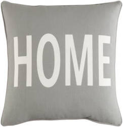 Surya Glyph Pillow Home Gray - White