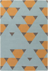 Surya Hilda Brigitte Orange - Aqua - Gray Area Rug