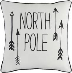 Surya Holiday Pillow North Pole Holi7243 Ivory
