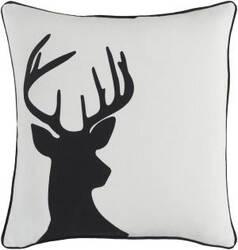 Surya Holiday Pillow Deer Holi7244 Ivory