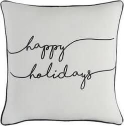 Surya Holiday Pillow Joy Holi7248 Ivory