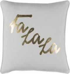 Surya Holiday Pillow January Holi7253 Metallic Gold