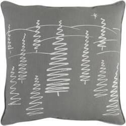 Surya Holiday Pillow Evergreen Holi7256 Gray