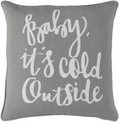Surya Holiday Pillow Winter Holi7257 Gray