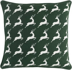 Surya Holiday Pillow Bells Holi7264 Forest Green