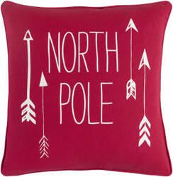 Surya Holiday Pillow North Pole Holi7267 Crimson Red