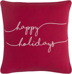 Surya Holiday Pillow Joy Holi7268 Crimson Red