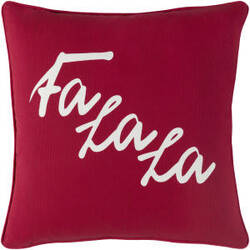 Surya Holiday Pillow January Holi7272 Crimson Red