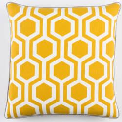 Surya Inga Pillow Thea Dark Yellow - White