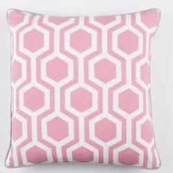Surya Inga Pillow Thea Pink - White