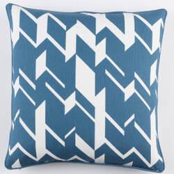 Surya Inga Pillow Josefine Blue - White