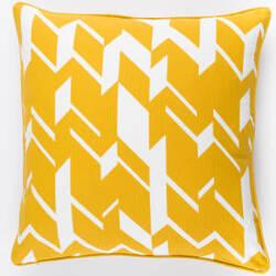 Surya Inga Pillow Josefine Dark Yellow - White