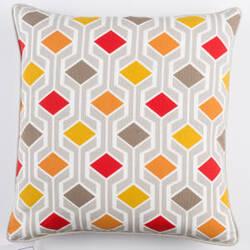 Surya Inga Pillow Greta Red Multi