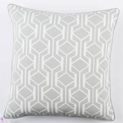 Surya Inga Pillow Greta Gray - White