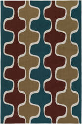 Surya Joan Clermont Teal - Rust - Gold Area Rug