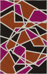 Surya Joan Holloway Hot Pink - Orange - Black Area Rug