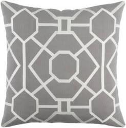 Surya Kingdom Pillow Porcelain Gray - White