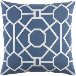Surya Kingdom Pillow Porcelain Blue - White